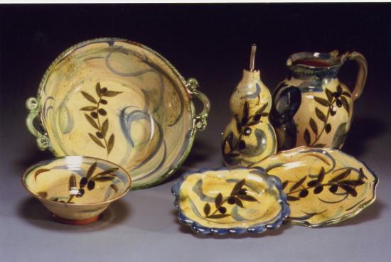 Collection provençale sur le thèmes des olives