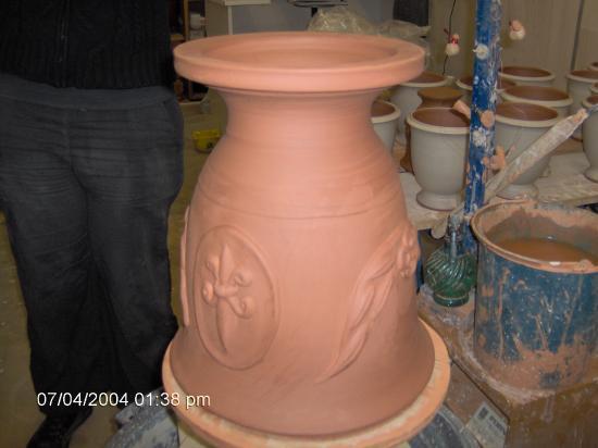 Vase d'Anduze en 0.30 terre rouge française