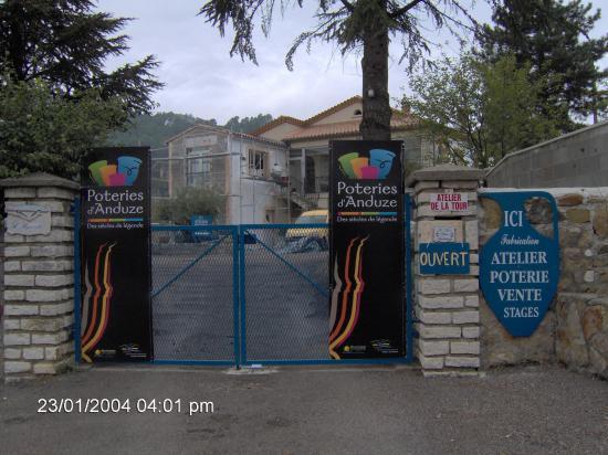 L'entrée de notre atelier à Générargues